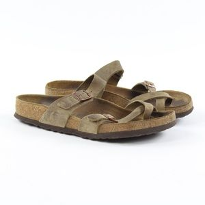 Birkenstock Mayari Tobacco Brown Leather Toe Loop